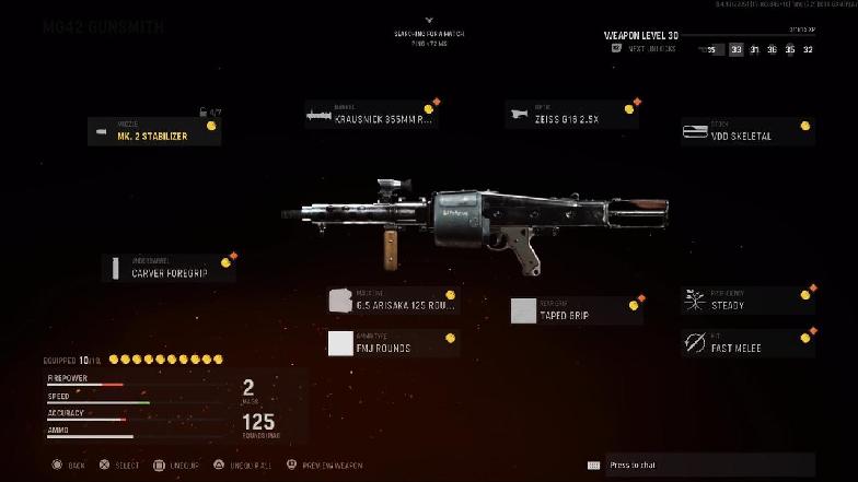 Лучшие приспособления для MG42 в Call of Duty: Vanguard