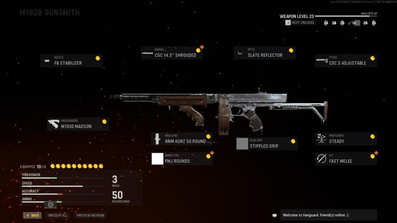 Лучшая установка класса M1928 в Call of Duty: Vanguard