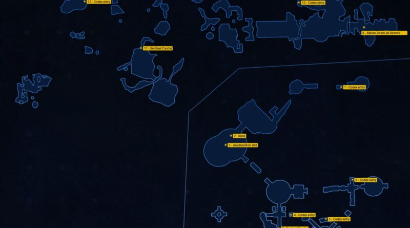 Doom Eternal: секреты Exultia, карты и местоположение